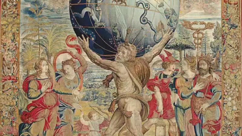 Kunstwerk Tapestry with Hercules