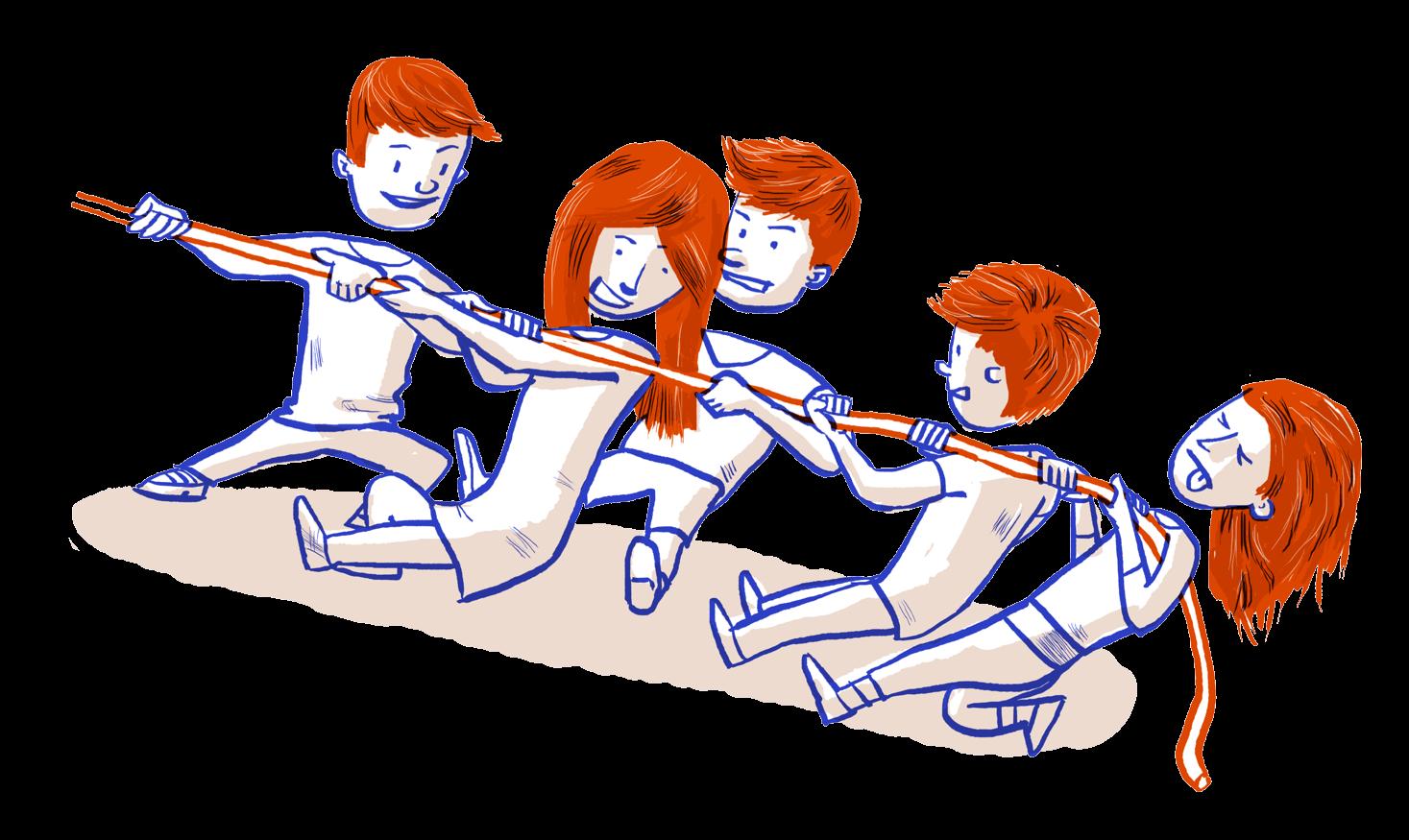 Illustratie van klasgroep