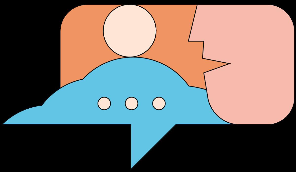 illustratie tekstballon
